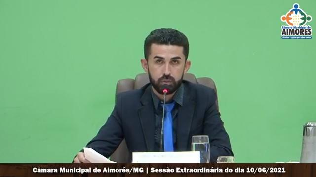 O Vereador Wagner Ferreira de Oliveira (BOB) presidiu a votação