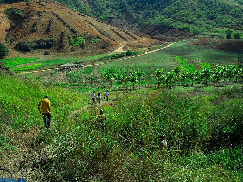 Secretaria de desenvolvimento Rural e Meio Ambiente visita propiedades rurais