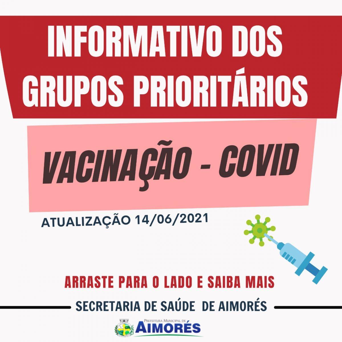 Informativo publicado pela Secretaria Municipal de Saúde de Aimorés