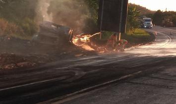 Acidente com vítima fatal na BR 101 em Guarapari