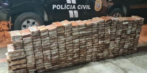 Operação da Polícia Civil apreende 350kg de cocaína
