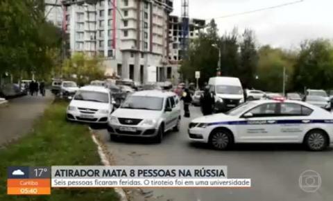 Atirador mata 8 em universidade na Rússia e é preso